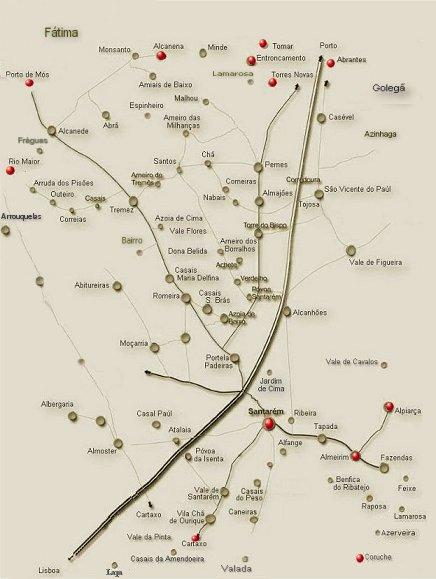 valada do ribatejo mapa Bares de Musica ao Vivo em Santarém valada do ribatejo mapa